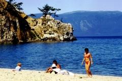 Пляж. База отдыха Шаманка. Отдых на Байкале